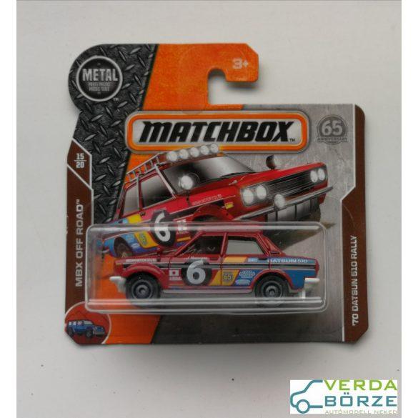 Matchbox Datsun 510 Rally